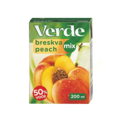 Verde őszibarack-alma ital 50% 0,2L