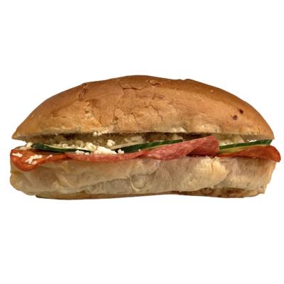 Waffel Szalámis,kolbászos szendvics