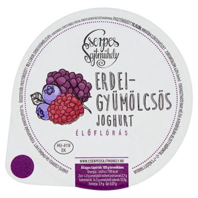 Cserpes Joghurt erdei gyümölcsös 250g