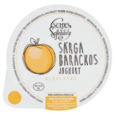 Cserpes Joghurt sárgabarackos 250g