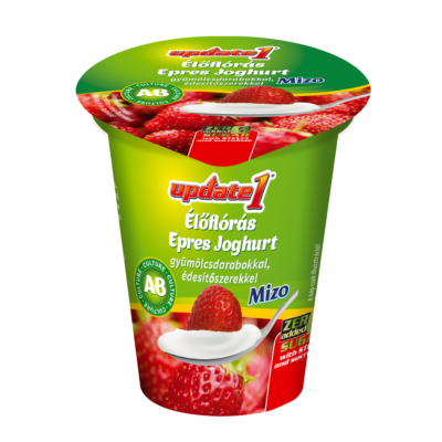 Mizo Update AB joghurt epres 125g