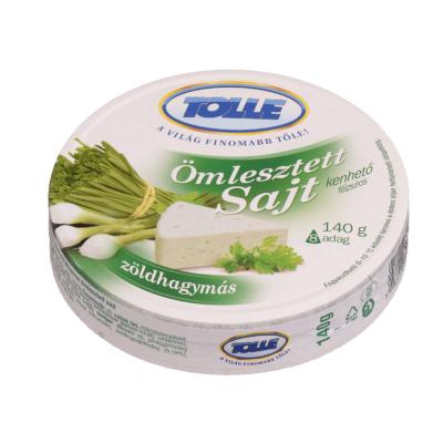 Tolnatej Ömlesztett félzsíros sajt 8 cikk., zöldhagymás 140g