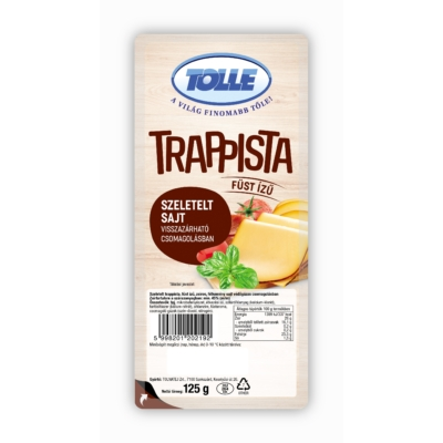 Tolnatej Füstölt trappista sajt szeletelt vg. 125g