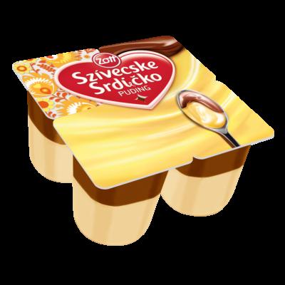 Zott Szívecske vaníliás puding kakaós öntettel 4*125g