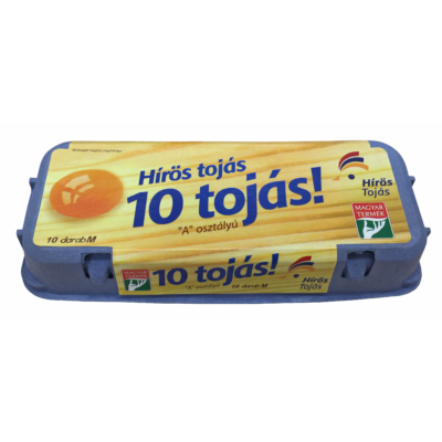 """Hírös Farm Friss tojás 10db """"A"""" osztályú """"M"""""""